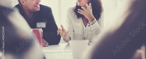 Business People Meeting Conference Discussion Working Concept Fototapet