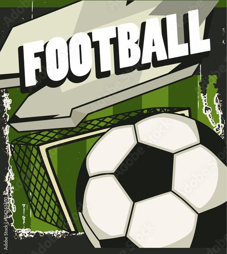 Fototapeta Winylowa Na Wymiar Retro Transparent Piłka Nożna