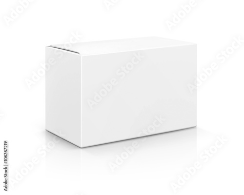 Obraz blank packaging white cardboard box isolated on white background - fototapety do salonu