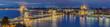 canvas print picture - Budapest beleuchtet