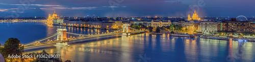Deurstickers Boedapest Budapest beleuchtet