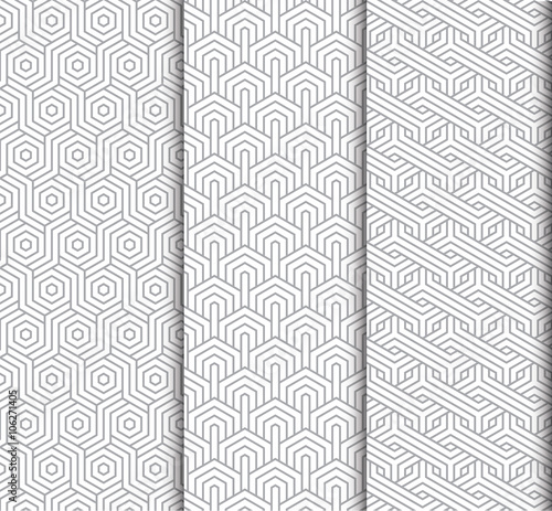 Photo sur Toile Artificiel seamless pattern set
