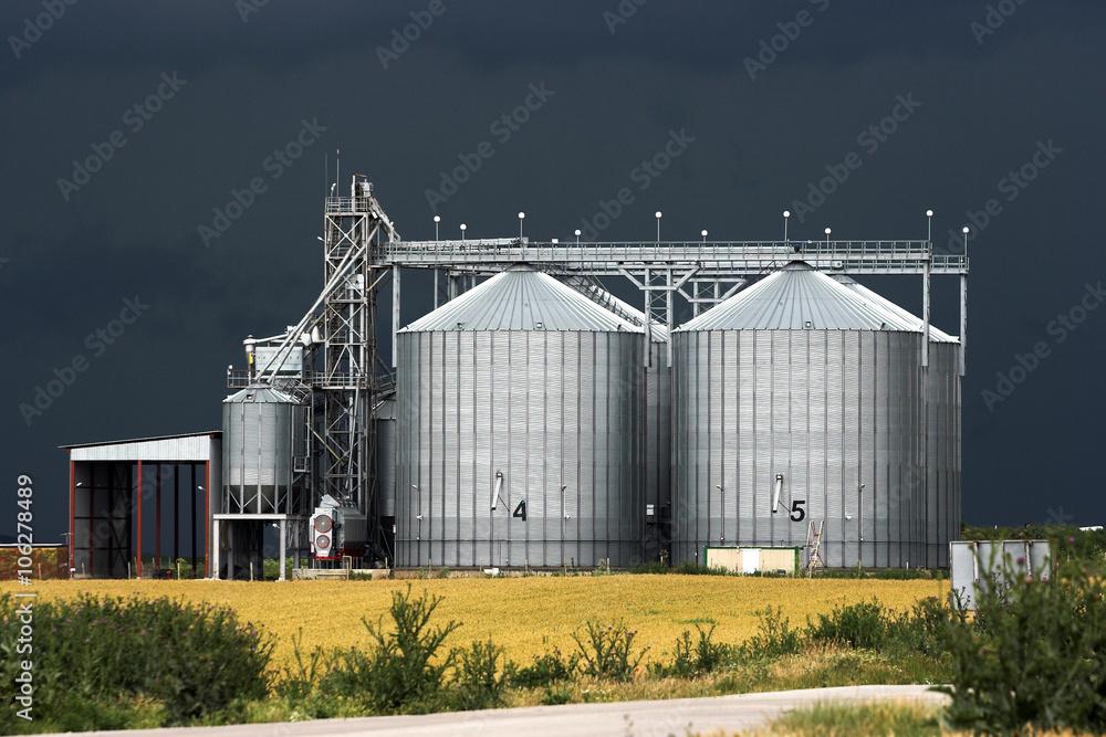 Fototapety, obrazy: grain silos