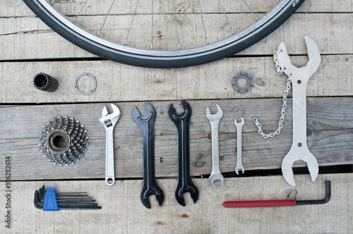 Aluminium Prints Bicycle Essential tools bike