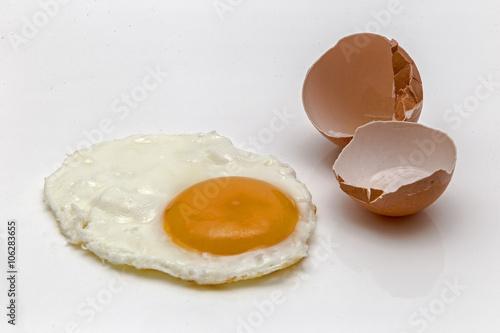 Foto op Plexiglas Gebakken Eieren Cooked egg