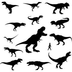 Fototapeta raptor silhouette clipart