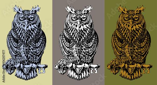Photo Stands Owls cartoon Owl