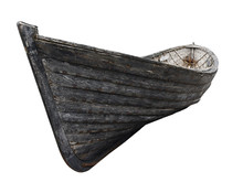 Side View Of An Old Fishing Wo...