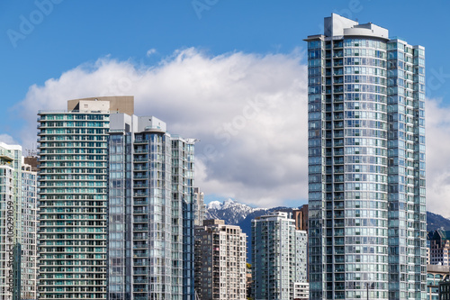 Modern Apartment Buildings In Downtown Vancouver Bc Canada