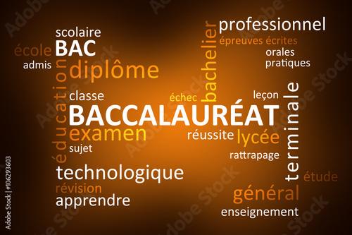 Foto  Nuage de Mots Baccalauréat