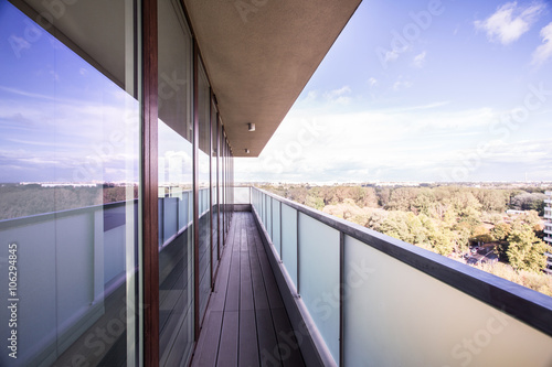 Picture of panoramic balcony Canvas Print