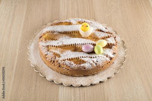 Valokuva  Neapolitan Pastiera (Easter cake)