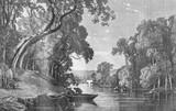 A River, vintage engraving. - 106304680