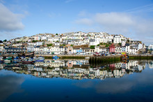 A Beautiful View Of Brixham Harbour In The Early Morning