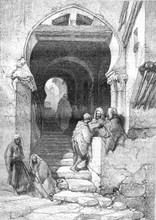 The Devil Street In Algiers, Vintage Engraving.