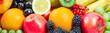 canvas print picture - Zitrusfrüchte, Obst und Beeren, Banner