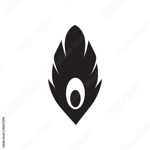 Płaskie ikona w czarno-białe pióro