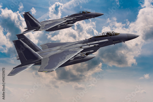 F-15C Eagle 3D rendering Canvas Print