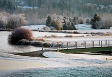 Golf Course On Frosty Morning