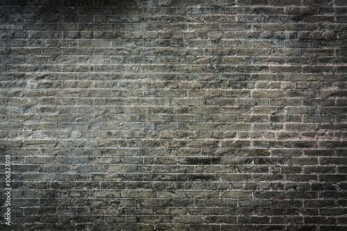 Obraz na płótnie Ciemny mur z cegły