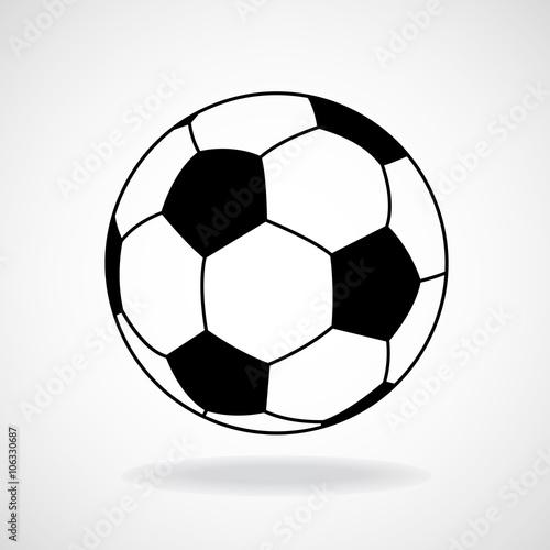 Fotografia Soccer ball isolated on white background