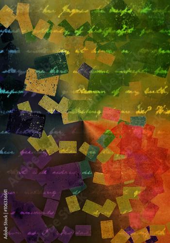Fotografia, Obraz  Kolorowy retro list