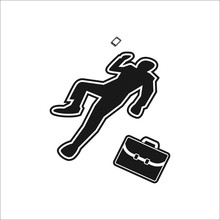 Scene Of The Crime Dead Body Simple Icon On White Background