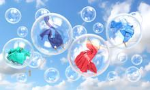 Things Falling In Soap Bubbles...