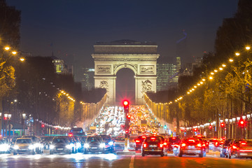 NaklejkaArc of Triomphe Champs-Elysees Paris France