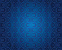 Indigo Blue Vintage Wallpaper ...