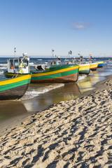 Fototapeta Morze Port on the beach.
