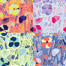 Seamless Colorful Floral Patte...