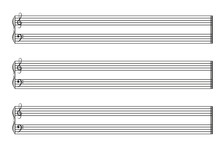 Sheet Music Books Horizontal. Vector EPS10