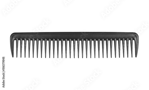 Fotografía Black comb isolated on white background