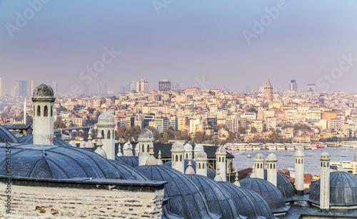 Garden Poster Madrid Suleymaniye Mosque, Istanbul