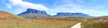View Of The Tepuys From The Track To Roraima