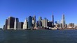 Manhattan Skyline with new World Trade Center on a sunny day