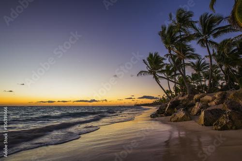 Fototapeta Caribbean wild beach, Punta Cana obraz na płótnie