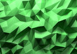 Leinwanddruck Bild - Green color triangle geometrical background
