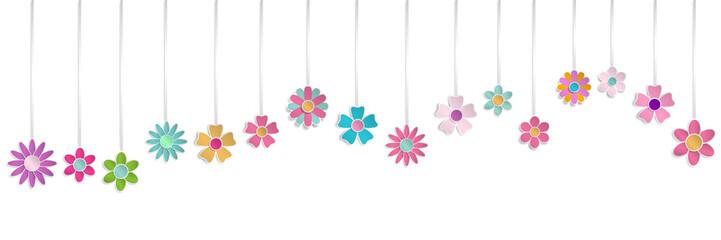 Naklejka Hanging paper flowers