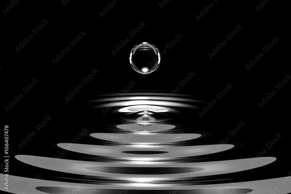 Fototapety, obrazy: Drops of liquid silver