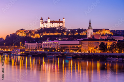 Bratislava at night Canvas Print