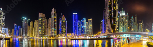 Panorama of Dubai marina