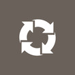 Recycle Or Reload Icon on Dark Gray Color. Eps-10.