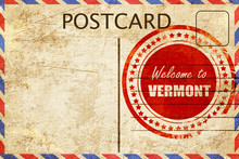 Vintage Postcard Welcome To Vermont