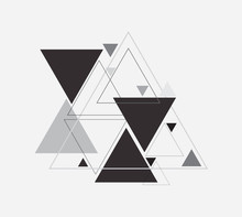Vector Abstract Background With Triangle