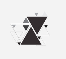 Black And White Vector Abstract Background With Triangle
