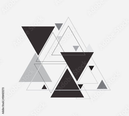 Obraz na plátně Vector abstract background with triangle