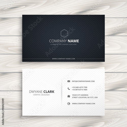 simple business card Wall mural