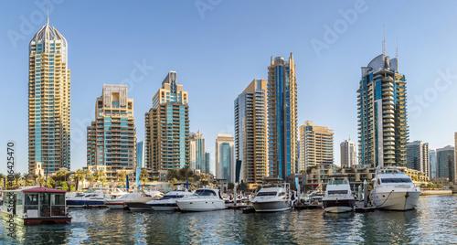 Fototapeten New York Panorama of Dubai marina